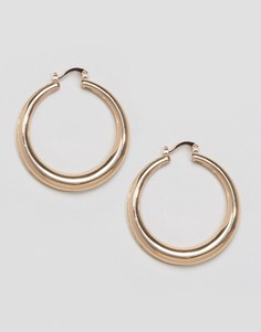Массивные серьги-кольца Nylon - Медный