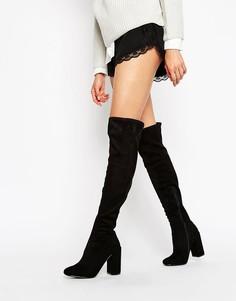 Сапоги на блочном каблуке Miss Selfridge - Черный