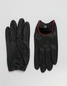 Черные перчатки для вождения Barneys - Коричневый Barneys Originals