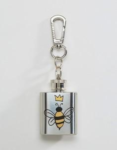 Плоская фляжка с пчелой Skinnydip - Мульти