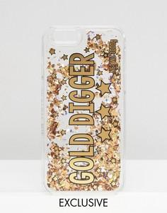 Чехол для iPhone 6/6s с блестками Skinnydip Gold Digger - Мульти