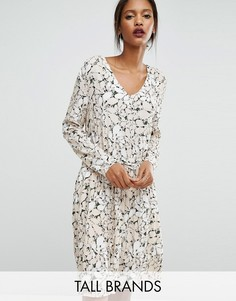 Платье с поясом и принтом Y.A.S Tall - Мульти