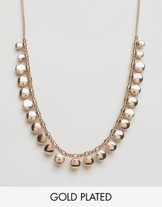 Ожерелье с покрытием из розового золота Pilgrim - Золотой
