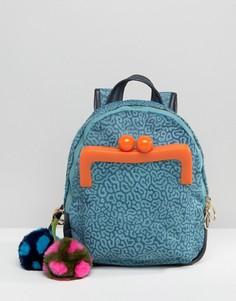Рюкзак с отделкой из натурального меха House Of Holland - Синий
