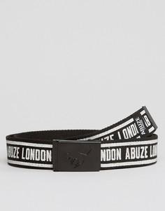 Ремень с пряжкой-клипсой и принтом Abuze London - Черный