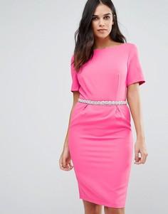 Платье-футляр с отделкой на талии Paper Dolls - Розовый