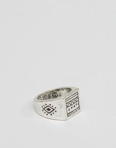 Серебристое полированное кольцо в ацтекском стиле Classics 77 - Серебряный