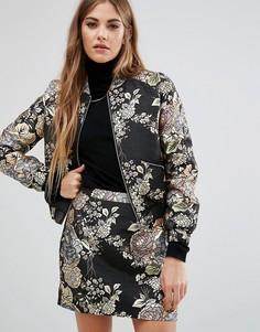 Комбинируемый пиджак с вышивкой и эффектом металлик Fashion Union - Мульти