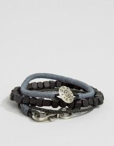 Набор браслетов (серый/черный) Icon Brand - Черный