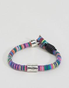 Плетеный браслет с ацтекским узором Icon Brand - Мульти