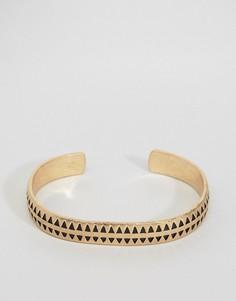 Золотистый браслет-манжета премиум Icon Brand - Золотой