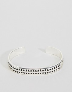 Серебристый браслет-манжета премиум Icon Brand - Серебряный