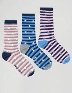 Набор из 3 пар носков с принтом Penguin - Темно-синий
