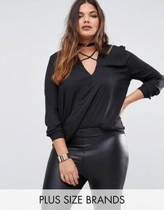 Блузка с перекрестными лямками спереди Missguided - Черный