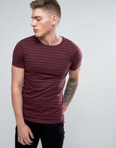 Бордовая футболка с полосками Lindbergh - Красный