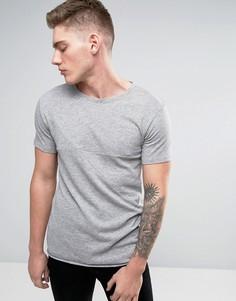 Серая футболка со вставками Lindbergh - Серый
