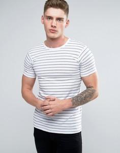 Белая футболка с полосками Lindbergh - Белый