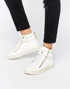 Белые кожаные высокие кроссовки Juicy Couture - Белый
