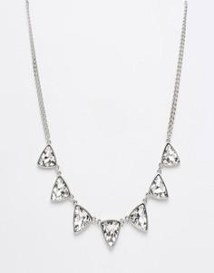 Ожерелье с камнями Design B - Серебряный