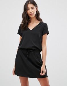 Платье с V-образным вырезом JDY - Черный