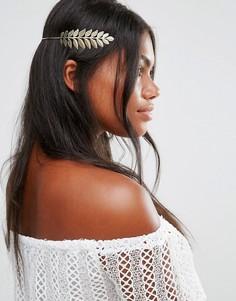 Украшение для волос с листиками Cara NY - Золотой