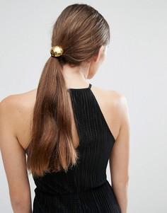 Резинка для волос с фактурным геометрическим дизайном DesignB - Золотой