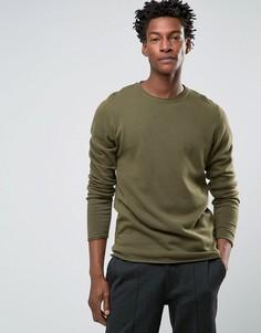 Джемпер с круглым вырезом Troy Roll Edge - Зеленый