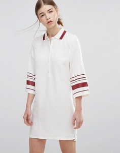 Платье с полосками на рукавах Wood Wood Caitlin - Белый
