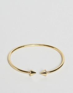 Незамкнутый браслет с шипами Orelia - Золотой