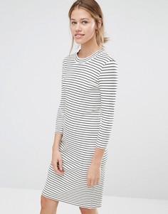 Платье с полосками Just Female Nine - Белый