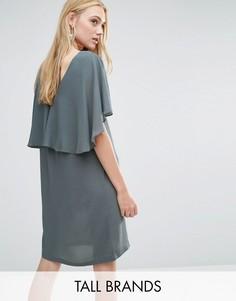 Платье с оборкой Y.A.S Tall Naomi - Серый