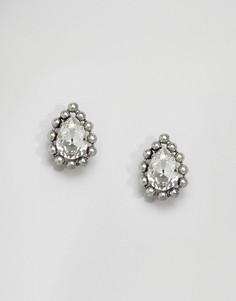 Серьги с кристаллами Swarovski Krystal - Серебряный