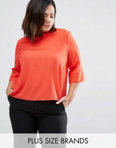 Блузка с высокой горловиной Elvi Plus - Красный