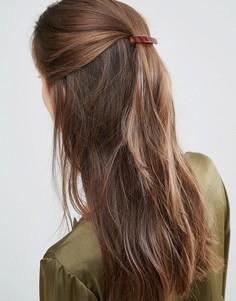 Заколка для волос черепаховой расцветки DesignB London - Коричневый