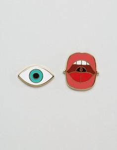 Набор значков виде глаза и губ Doiy - Мульти