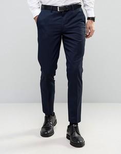Фактурные брюки слим в строгом стиле Burton Menswear - Темно-синий