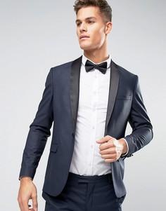 Пиджак-смокинг слим Jack & Jones Premium - Темно-синий