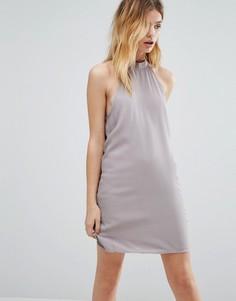 Свободное платье с высокой горловиной Native Youth - Серый