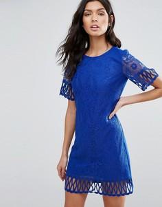 Кружевное цельнокройное платье Pussycat London - Синий