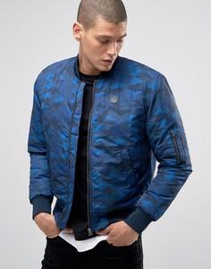Камуфляжная куртка-пилот Le Breve MA1 - Темно-синий
