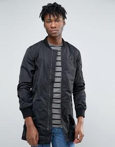 Удлиненная куртка-пилот Le Breve - Черный