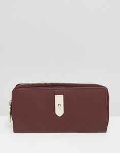 Кожаный складной кошелек Modalu - Красный
