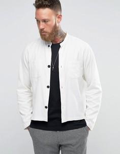 Рубашка-куртка с воротником на пуговице Hart Hollywood by Nick Hart - Белый