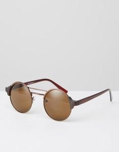 Круглые солнцезащитные очки AJ Morgan - Золотой