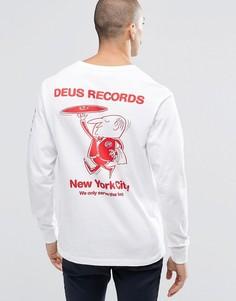 Лонгслив с принтом сзади Deus Ex Machina - Белый