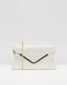 Клатч-конверт с блестками Lotus - Золотой