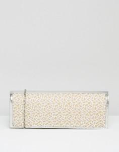 Клатч с сетчатой вставкой Lotus - Серебряный