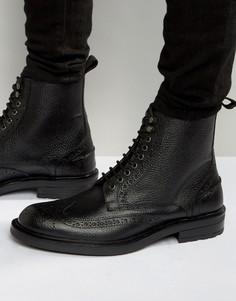 Черные кожаные ботинки-броги Dead Vintage - Черный
