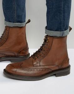 Светло-коричневые кожаные ботинки-броги Dead Vintage - Рыжий