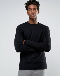 Джемпер с круглым вырезом Troy Roll Edge - Черный